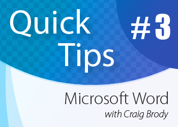 ALI CLE Quick Tips: Microsoft Word